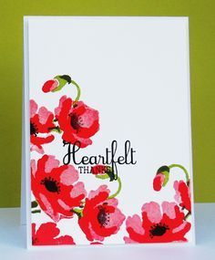 Altenew Poppies on Pinterest | Poppies, Stamp Sets and Stamps