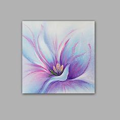Peint à la main Abstrait / A fleurs/Botanique Peintures à l'huile,Modern / Classique Un Panneau Toile Peinture à l'huile Hang-peint For de 5460072 2017 à €75.25