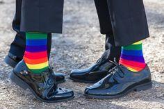 Rainbow socks   Ohio Rainbow-Themed Gay Wedding   Equally Wed - LGBTQ Weddings