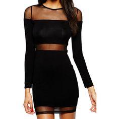 Paneled Bodycon Dress