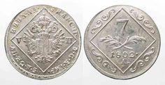 1802 Haus Habsburg RDR 7 Kreuzer 1802 A FRANZ II. Silber Überprägung PRACHTSTÜCK!!! # 63722 st