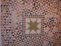 "https://flic.kr/p/nTXjy | Annette Gero Collection - Antique PinWheel Quilt | From this year's ""12. Carrefour du Patchwork"" in the Val d'Argent, France. The vintage quilt  is part of Annette Gero's collection of vintage Australian Quilts.   redwork-in-germany.blogspot.com/2006/09/12-carrefour-euro..."