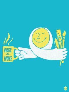 Wake n make in Illustration