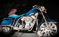 Harley  motorcycle cake by debbiedoescakes, via Flickr love this cake for brandons bday