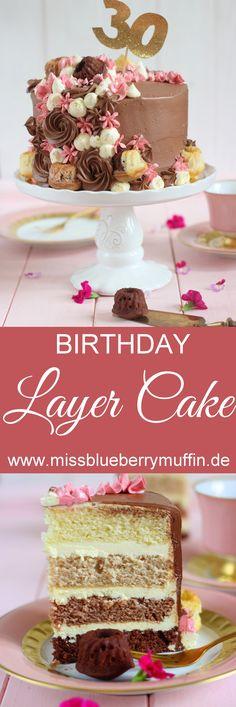 Pie Co, Vanilla Cake, Layering, Cupcakes, Chocolate, Birthday, Sweet, Desserts, Recipes