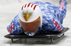 Awesome skeleton helmets of Sochi - Window to the Winter Games - Katie Uhlaender of the U.S. starts an unofficial women skeleton progressive training at the Sanki sliding center in Rosa Khutor, a venue for the Sochi 2014 Winter Olympics near Sochi, February 5, 2014. REUTERS/Murad Sezer (RUSSIA - Tags: SPORT OLYMPICS SKELETON)