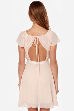 Sweet Escape Light Peach Dress at LuLus.com! @Brooke Hankins