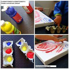 leikit, sisäleikit, sormivärit, maalaus, sormimaalaus, varhaiskasvatus