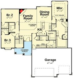 Plan No: W42281DB Style: Traditional, European Total Living Area: 1,945 sq. ft.