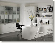 Different Home Office Decorating Ideas. White Home Office  FurnitureContemporary ...