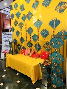 new Ideas wedding decorations stage mehendi Desi Wedding Decor, Wedding Stage Decorations, Wedding Mandap, Diwali Decorations, Backdrop Decorations, Wedding Ideas, Trendy Wedding, Backdrop Ideas, Wedding Events