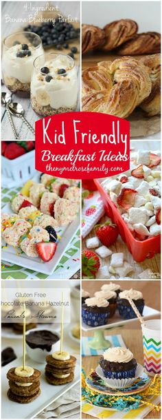 These easy and playful kid-friendly breakfast ideas have got you covered for those on-the-go weekday mornings and sit-down weekend breakfasts! Brunch Recipes, Baby Food Recipes, Breakfast Recipes, Snack Recipes, Cooking Recipes, Snacks, Brunch Ideas, Oreo, What's For Breakfast