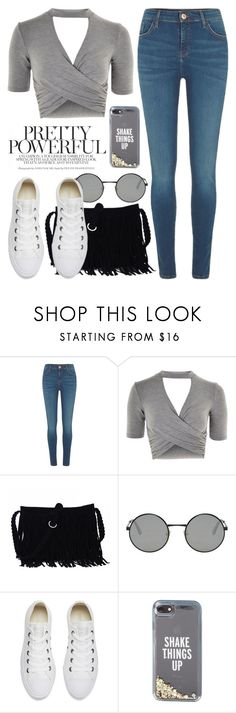 """Apr 14th (tfp) 3410"" by boxthoughts ❤ liked on Polyvore featuring River Island, Topshop, Yves Saint Laurent, Converse, Kate Spade and tfp"