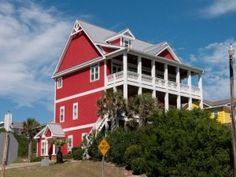 Featured Property: Red Snapper Club - Enjoy a wonderful stay on North Carolina's Crystal Coast in this beautiful red beach vacation home! The Red Snapper Club is a charmingly decorated second row cottage with 8 bedrooms (4 king, 3 queen and 1 bunk bed) and 5.5 bathrooms. And all it takes is a short walk across the quiet street and your toes are in the sand. Read more...