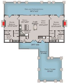 Log Home Plan With Twin Master Suites - Floor Master Suite CAD Available Country Exclusive Log Mountain PDF Vacation Architectural Designs 2 Bedroom House Plans, Basement House Plans, Dream House Plans, Small House Plans, House Floor Plans, Basement Renovations, Basement Ideas, The Plan, How To Plan