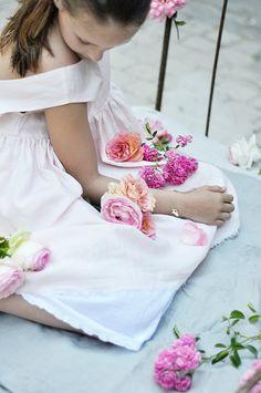 Des roses et du lin