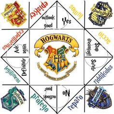 harry potter fortune teller template - Google Search