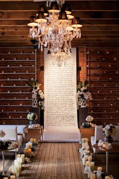 Extend your aisle runner so that it also serves as a unique ceremony backdrop!