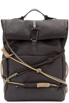 Designer Backpacks for Men | Online Boutique | SSENSE ~ Black Hiking Backpack