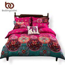 BeddingOutlet Magenta Bedding Bedspread for Wedding Boho Duvet Cover Noble Bed Linen 4Pcs Twin Queen On Sale jogo de cama(China (Mainland))