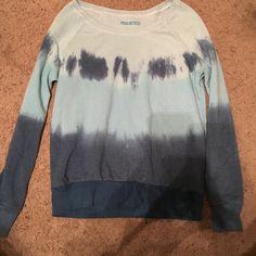 Tie-Dye Sweatshirt Thin, light weight sweatshirt. Blue tie-dye. Adorable for a comfy, lazy day. Sweaters Crew & Scoop Necks