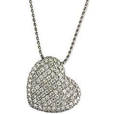 14k Diamond Heart Pendant from Borsheims