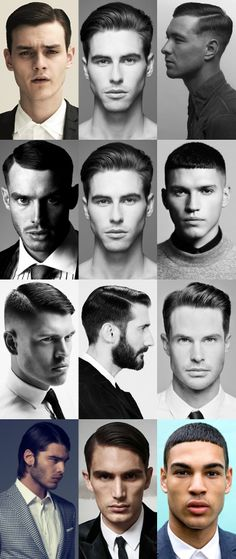 Men's Classic, High-Shine and Slick Hairstyles