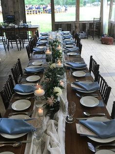 Farm Tables, Wedding Table Decorations, Beams, Burlap, Table Settings, Flowers, Hessian Fabric, Florals, Place Settings