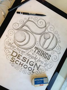 Fabulous Hand Lettering // '50 Things They Never Taught You At Design School' by Craig Minchington