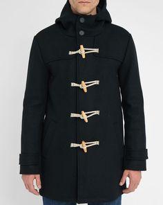 Navy Geoffroy Wool Blend Duffle Coat M.STUDIO
