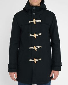 Navy Geoffroy Wool Blend Duffle Coat M.STUDIO