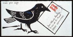 Bird Mail Art - Enveloppe Philippe Charron © L'Adresse Musée de La Poste