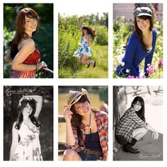 Ahhh! Love these!! Especially the one with the cowgirl hat... ;) Senior Photo Ideas