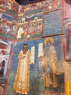 Bucovina // Voronet Monastery // Exterior wall painting Moldova, My Heritage, Illuminated Manuscript, Byzantine, Mosaics, Good News, Places Ive Been, The Good Place, Europe