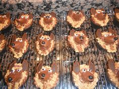 See related links to what you are looking for. Dog Cupcakes, Birthday Cupcakes, Fireman Cake, Puppy Cake, Unique Desserts, German Chocolate, Pet Treats, 70th Birthday, Caramel Apples