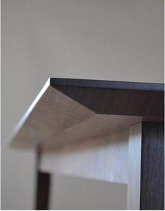 Walnut Table. Beveled edge