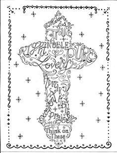 Christian Scripture Cross by ChubbyMermaid