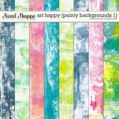 Art Happy: Basic Backgrounds 1 by Shawna Clingerman. Perfect for scrapbooking, planner embellishing, party invitations, cards, gift wrapping, paper crafts and much more.