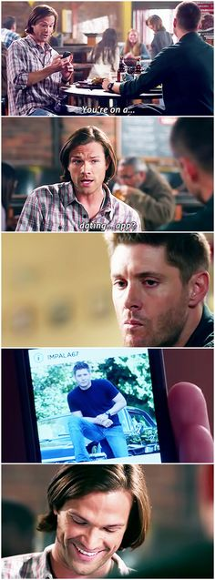 [gifset] SPOILERS 10x07 Girls Girls Girls #SPN #Dean #Sam (I love Sam's laughter on this XD). <-- I love that Dean's name is IMPALA67