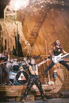 On stage (Iron Maiden)