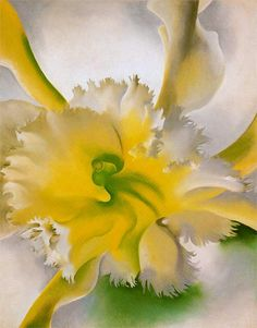 Georgia O'Keeffe. An Orchid (1941) at MoMA.