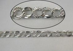 4 Meters double textured ring metal chain by aliyafang on Etsy, $5.90