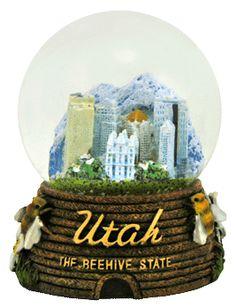 Utah the Beehive State snow globe