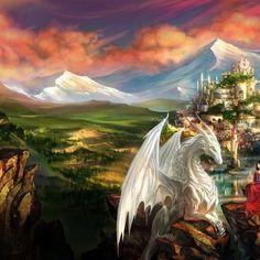 beautiful white dragons - Google Search