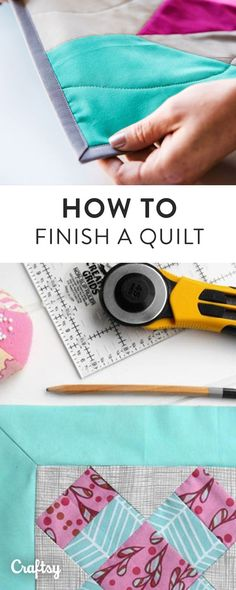 Finished sewing your quilt top? Learn how to expertly finish binding your quilt with Craftsy's step-by-step beginner guide. Create an account to download the step-by-step tutorial.