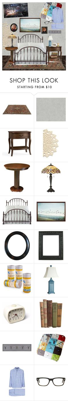 """""""Vintage Bedroom"""" by lullulu ❤ liked on Polyvore featuring interior, interiors, interior design, home, home decor, interior decorating, Pottery Barn, DutchCrafters, Quoizel and Hillsdale Furniture"""