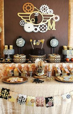 Steampunk Party - Lots of great details and ideas