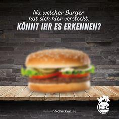 Na welcher Burger hat sich hier versteckt. Könnt ihr es erkennen? :) . #hfc #hfchicken #hfchickende #fastfood #burger #burgers #hamburger #chickenburger #fingerfoods #food #instafood #chicken #pommes #fastfoodliebhaber #instaburgers #dillenburg #giessen #lieferservice Hamburger, Fast Food, Ethnic Recipes, Burgers
