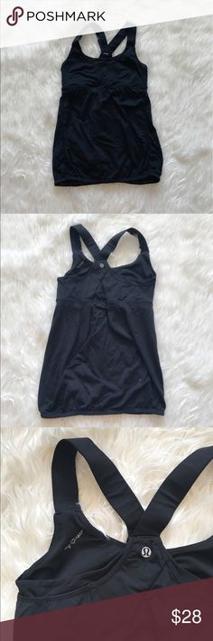 Lululemon Workout Top Lightly worn no cups. ✅Bundle & Save 🚫Sorry no trading 👍Fast Shipper 💕Happy Poshing lululemon athletica Tops Camisoles