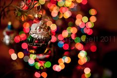 Christmas bokeh shot- I hope Owen and Skyla don't think Santa is coming soon. Christmas lights up might be a bit confusing, but this helped me with the look I wanted